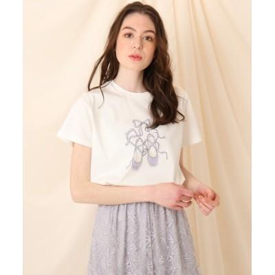 Couture brooch / バレエポアント プリントTシャツ WOMEN トップス > Tシャツ/カットソー