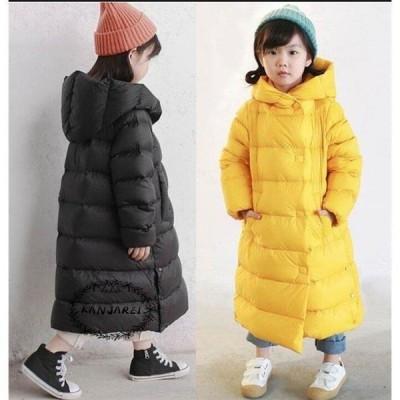 ダウンコート 子ども 子供服 ダウンジャケット 男の子 ロング コート 女の子 アウター 秋 冬 フード付き ジュニア 防寒