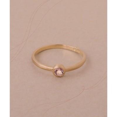 指輪 モルガナイトゴールドリング