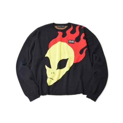 ニット YOUTH OF PARIS × FULL-BK ALIEN KNIT