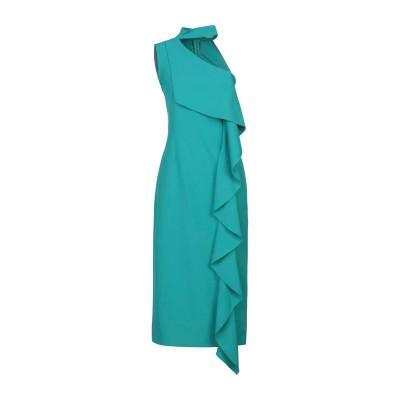 ANNA RACHELE 7分丈ワンピース・ドレス エメラルドグリーン 42 ポリエステル 95% / ポリウレタン 5% 7分丈ワンピース・ドレス