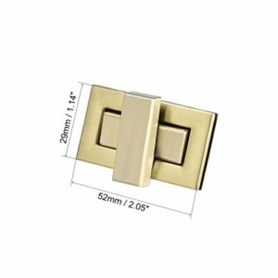 uxcell 海外出荷 長方形の財布 ツイストロッククラッチクロージャー DIY製袋用 1セット ブラスブラス 52mmx29mm