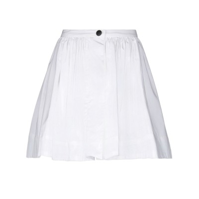 WEILI ZHENG ミニスカート ホワイト XS コットン 100% ミニスカート