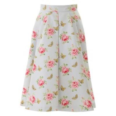 PRADA/プラダ Mixed colours Prada rose print faille skirt レディース 春夏2020 P174Q 1VVJ ik