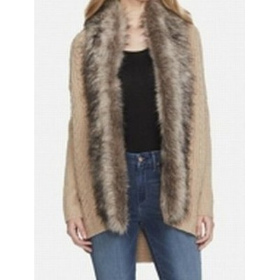 Jessica Simpson ジェシカシンプソン ファッション 衣類 Jessica Simpson Womens Jacket Beige Size XS Cardigan Faux-Fur Knit