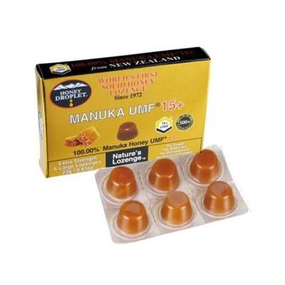 ハニージャパン ハニードロップレット100% UMF マヌカハニー 15+ キャンディ のど飴 6粒入り オーガニック 無添加 送料無料 正規品 食品 蜂蜜 はちみつ