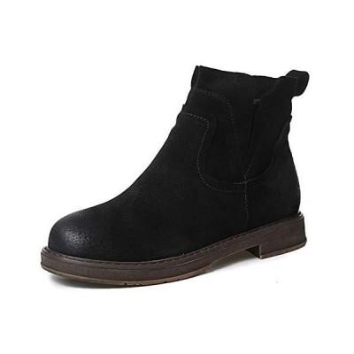 [TRVELBETT] ブーティー ブーツ 厚底ブーツ ショートブーツ レディース ブーツ 本革 エンジニアブーツ 美脚 大人 ?