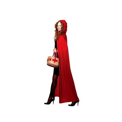 AKAKING's Costume Full Length Red Hooded Cape Costumes, Red, One Size
