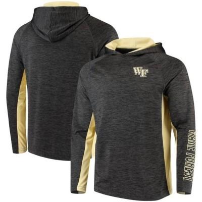 ユニセックス スポーツリーグ アメリカ大学スポーツ Wake Forest Demon Deacons Colosseum Upstart Long Sleeve Hoodie T-Shirt - Heat