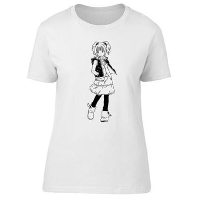 キッズ 衣類 トップス Fashion Japanese Teen Girl B&W Tee Women's -Image by Shutterstock Tシャツ