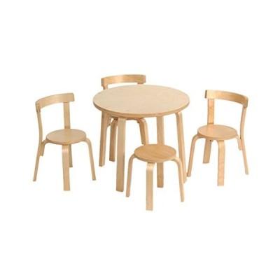 (スバン) Svanキッズテーブル椅子セットおままごと幼児用テーブルセット 椅子3脚スツール 100%木製 To