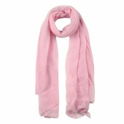 uxcell ショールスカーフ ロング ウォーム ショール 柔らかい スカーフ 男女兼用 淡いピンク-2 180x140cm