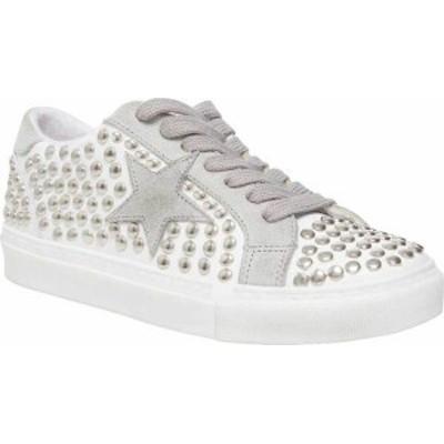 スティーブ マデン レディース スニーカー シューズ Women's Steve Madden Turner-S Studded Sneaker White Studded Leather