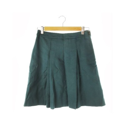 【中古】グリーンレーベルリラクシング ユナイテッドアローズ green label relaxing スカート フレア ミニ ウール 38 緑 グリーン /CK9 ☆ レディース
