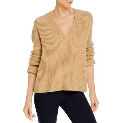 ヴィンス レディース ニット・セーター アウター Shaker Rib V Neck Cashmere Sweater