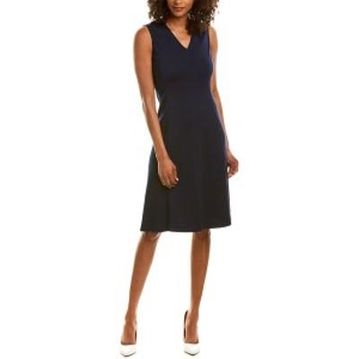 セントジョン レディース ワンピース トップス St. John Wool-Blend A-Line Dress -