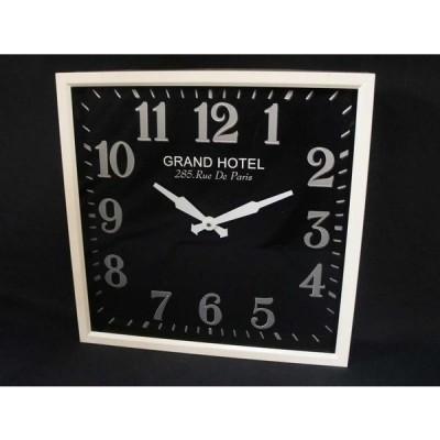 素敵な掛時計・スクエア・ブラック・46Φcm