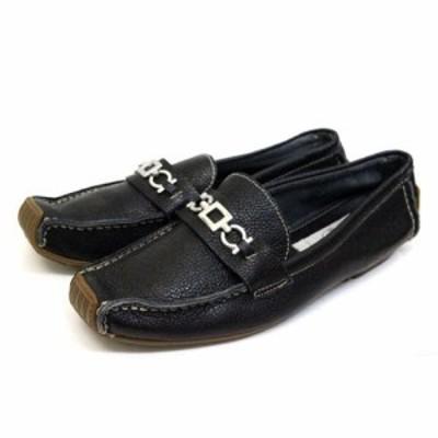 【中古】バスクラフト BATH CRAFT ドライビングシューズ モカシン 靴 シューズ 23.5 黒 ブラック /Z レディース