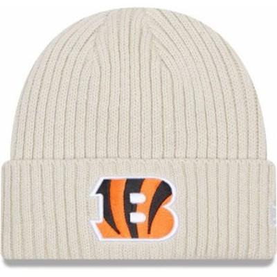 ニューエラ メンズ 帽子 アクセサリー New Era Men's Cincinnati Bengals Core Cuffed Knit White Beanie -