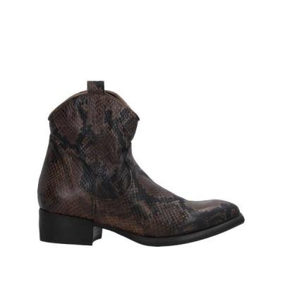 ZOE ショートブーツ  レディースファッション  レディースシューズ  ブーツ  その他ブーツ ダークブラウン