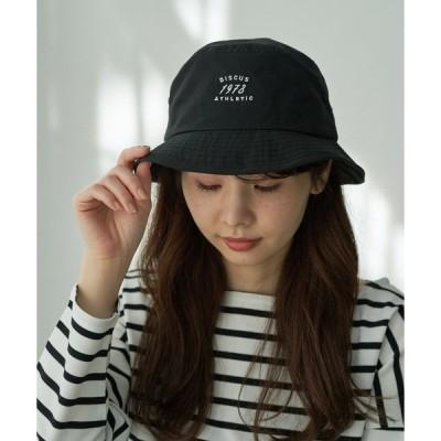 帽子 ハット 【DISCUS別注】パイピングロゴ刺繍バケットハット