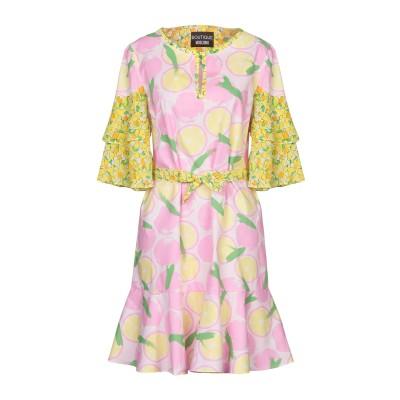 BOUTIQUE MOSCHINO ミニワンピース&ドレス ピンク 38 コットン 100% / シルク ミニワンピース&ドレス