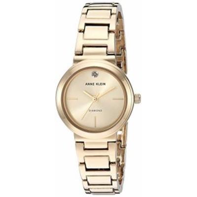腕時計 アンクライン レディース Anne Klein Women's Genuine Diamond Dial Gold-Tone Bracelet Watch,