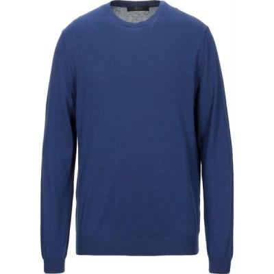 ブイネック VNECK メンズ ニット・セーター トップス sweater Blue