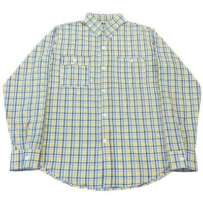 BLUE BEAR CHECK SEERSUCKER LS SHIRTS(ブルーベアーシアサッカー長袖チェックシャツ) (Lサイズ)