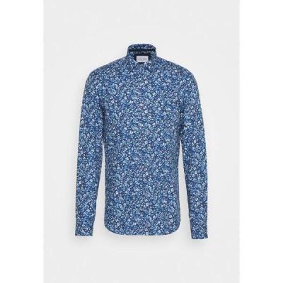 カルバン クライン テイラード シャツ メンズ トップス PRINTED CONTRAST SLIM SHIRT - Shirt - blue