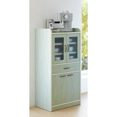 キッチン収納ミニ食器棚シリーズ キャビネット大(高さ120.5cm) グリーンケイ