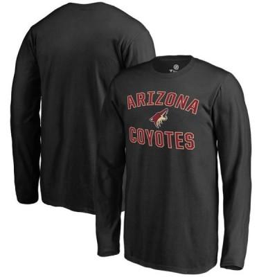 キッズ スポーツリーグ ホッケー Arizona Coyotes Fanatics Branded Youth Victory Arch Long Sleeve T-Shirt - Black Tシャツ