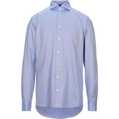 イートン ETON メンズ シャツ トップス striped shirt Blue
