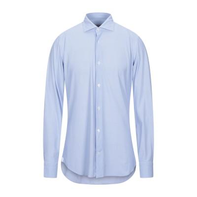 GUGLIELMINOTTI シャツ スカイブルー 44 ナイロン 74% / ポリウレタン 26% シャツ