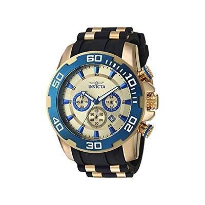 Invicta Men's Pro Diver Quartz Watch with Silicone Strap, Two Tone, 26 (Mod