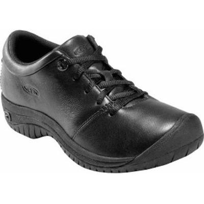 キーン レディース オックスフォード シューズ Women's KEEN Utility PTC Oxford Black Leather