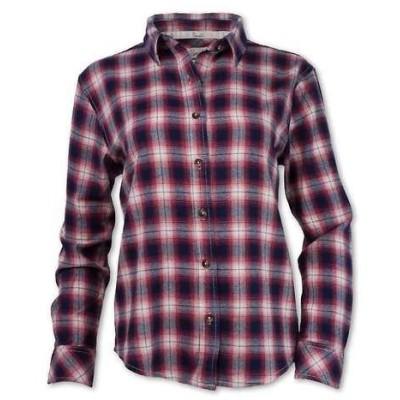 パーネル レディース シャツ トップス Purnell Women's Vintage Plaid Flannel LS Shirt