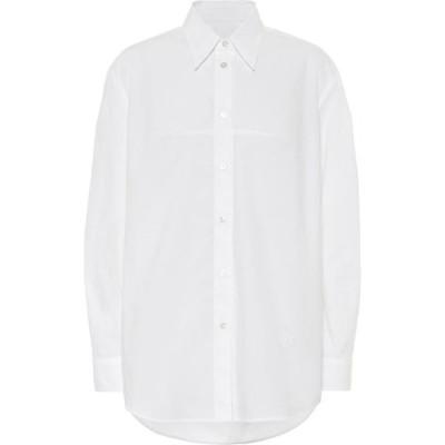 メゾン マルジェラ MM6 Maison Margiela レディース ブラウス・シャツ トップス Cotton-poplin shirt White