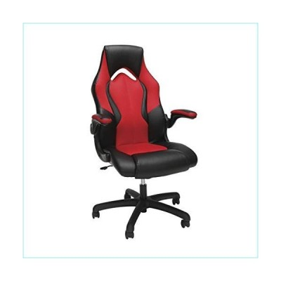 OFM ESS Collection High-Back Racing Style Bonded Leather Gaming Chair, in Red (ESS-3086-RED)並行輸入品