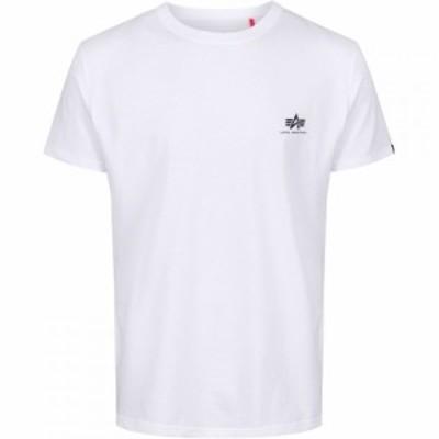 アルファ インダストリーズ Alpha Industries メンズ Tシャツ トップス Basic Small Logo T Shirt White