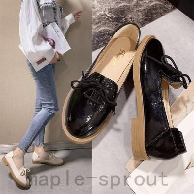 レディース革靴ローファーパンプススリッポンウォーキングローヒールオシャレ女子靴