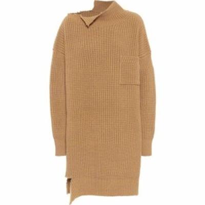マルニ Marni レディース ワンピース ワンピース・ドレス wool sweater dress Hazelnut