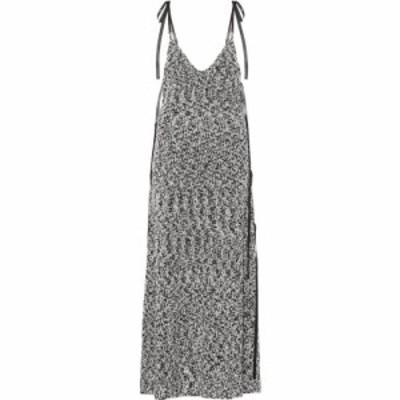 ロエベ Loewe レディース ワンピース マキシ丈 ワンピース・ドレス lurex knit maxi dress Light Grey