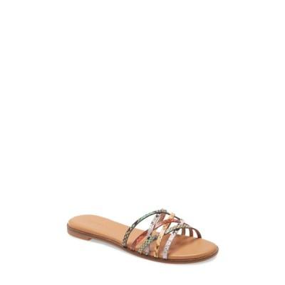 メイドウェル レディース サンダル シューズ The Tracie Crisscross Slide Sandal SNAKE PRINT MULTI