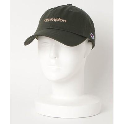 atmos pink / CHAMPION チャンピオン ツイル ローキャップ 381-0049 MEN 帽子 > キャップ