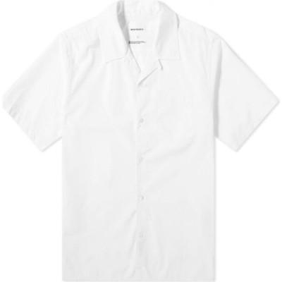 ノースプロジェクト Norse Projects メンズ 半袖シャツ トップス Carsten Vacation Shirt White