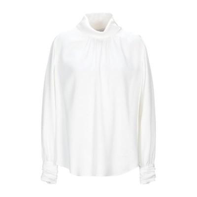 MAURO GRIFONI ブラウス ファッション  レディースファッション  トップス  シャツ、ブラウス  長袖 ホワイト