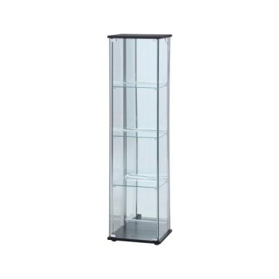 不二貿易 ガラスコレクションケース 4段(背面ミラー) LED/99491