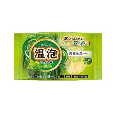 アース製薬 温泡 ONPO こだわり森炭酸湯 若葉の森 45G 温泉入浴剤