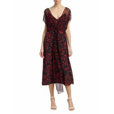 ダイアンフォンファステンバーグ レディース ワンピース Printed Front-Tie Silk Dress